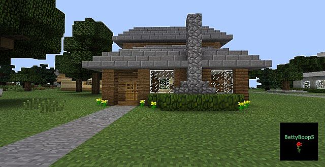 Small House Design Minecraft Wood