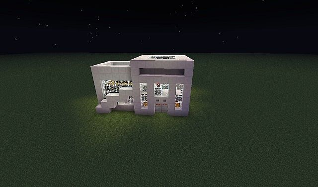 Nether Quartz Modern House Minecraft Project