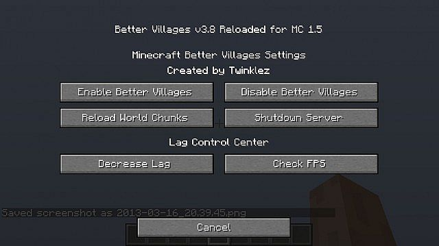 Inside Better Villages Config