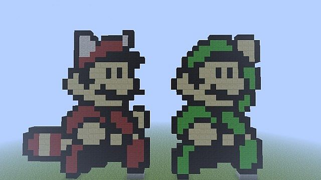 Super Mario Bros 3 Mario And Luigi Minecraft Map