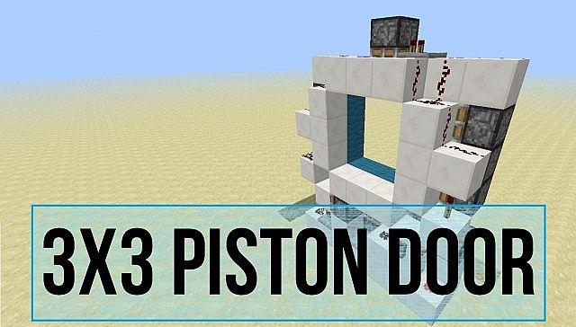 Minecraft Piston Door 3x3 3x3 Piston Door Minecraft