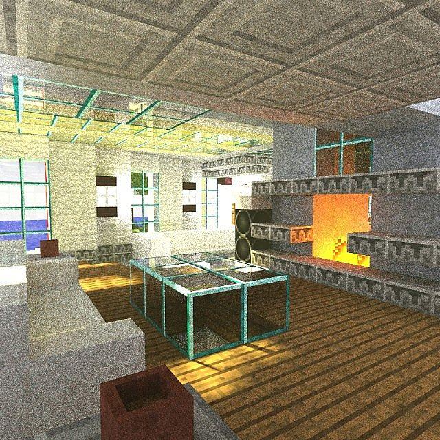 Minecraft Living Rooms: Modern Island Estate Minecraft Project