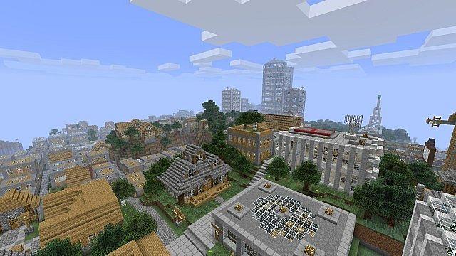 Vertoak City Map 1.12.2/1.11.2 for Minecraft - 9Minecraft.Net
