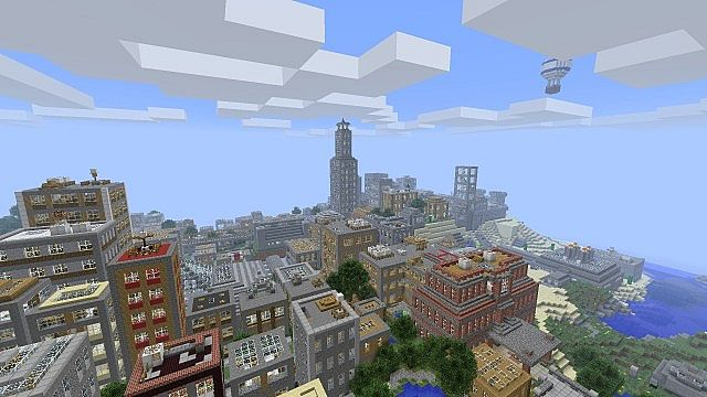 how to build a big city in minecraft