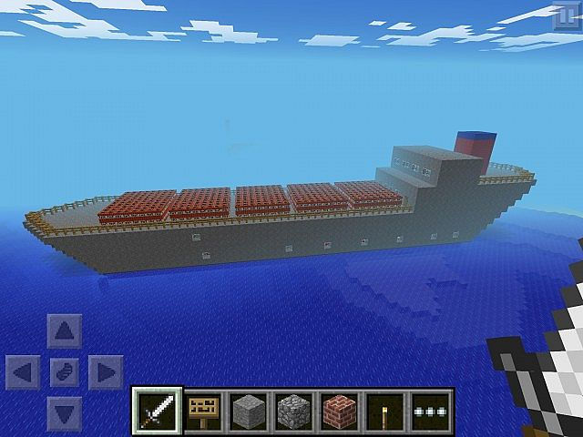 how to make a working ship in minecraft pe