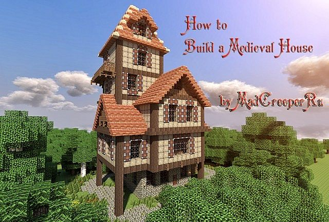 How to build a beautiful medieval house minecraft blog for How to build a house step by step instructions