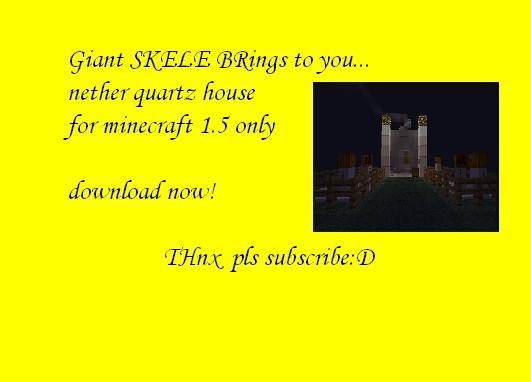 how to make nether quartz in minecraft
