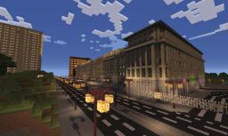 Scale 1:1 Palace of Culture and Science (PKiN) in Warsaw Poland - stage 6 Minecraft Map & Project