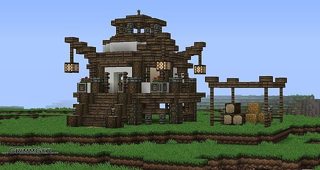 P Taks Fantasy Asian Styled Hut House Minecraft Project