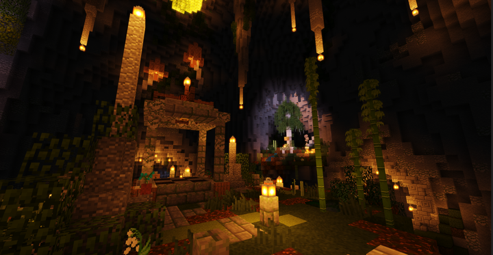 Our Hub, where you can switch between worlds
