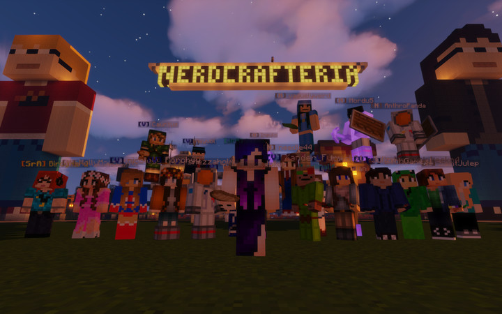 Some of the players of Nerdcrafteria