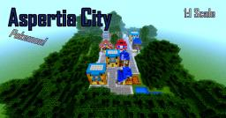 Aspertia City from Pokemon at a 1:1 scale