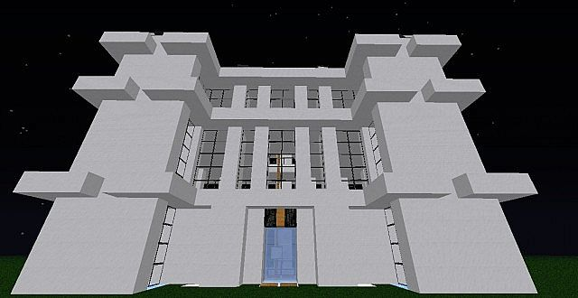 Modern Building 4 Floors Minecraft Project