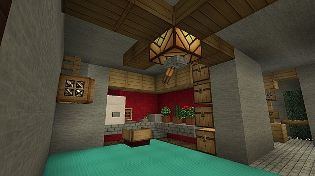Modern underground house minecraft project for Minecraft how to build a modern living room