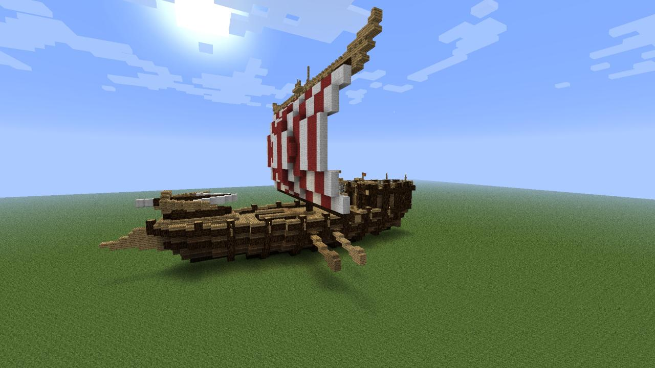 Viking Ship Minecraft Project