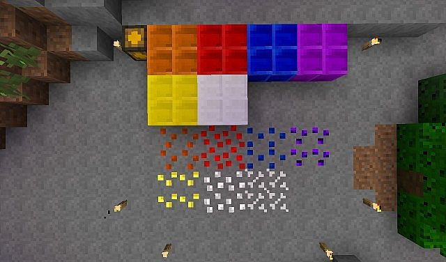 All of the Ores and Coins Blocks.