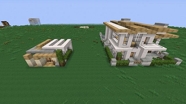 Two Modern Houses Minecraft Project