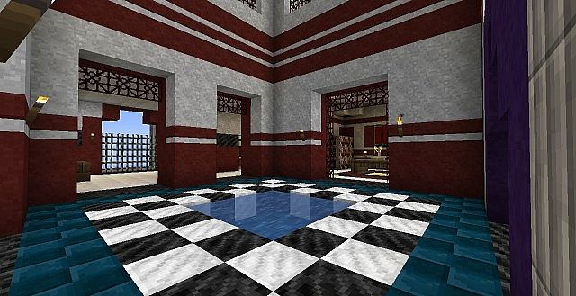 Use decorative wool blocks to design an authentic roman villa