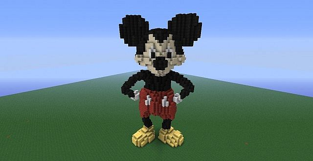 Mickey Mouse ~Disney~ Giant Minecraft Statue Minecraft Project