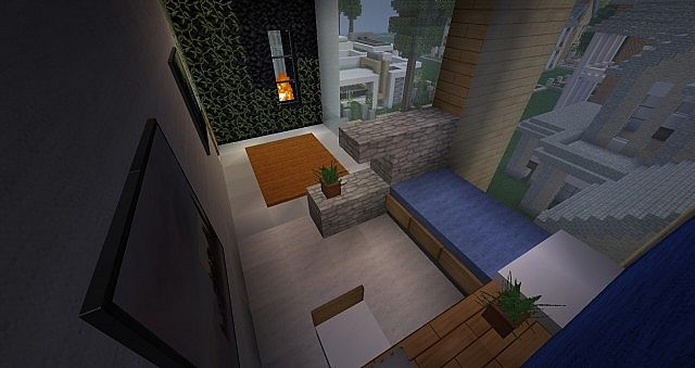 The gallery for minecraft modern bathroom for Bathroom ideas minecraft