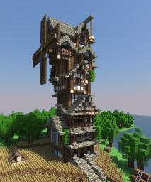 | Medieval | Windmill Minecraft Map & Project