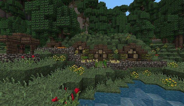 Minecraft hobbit hole blueprints for Hobbit inspired house