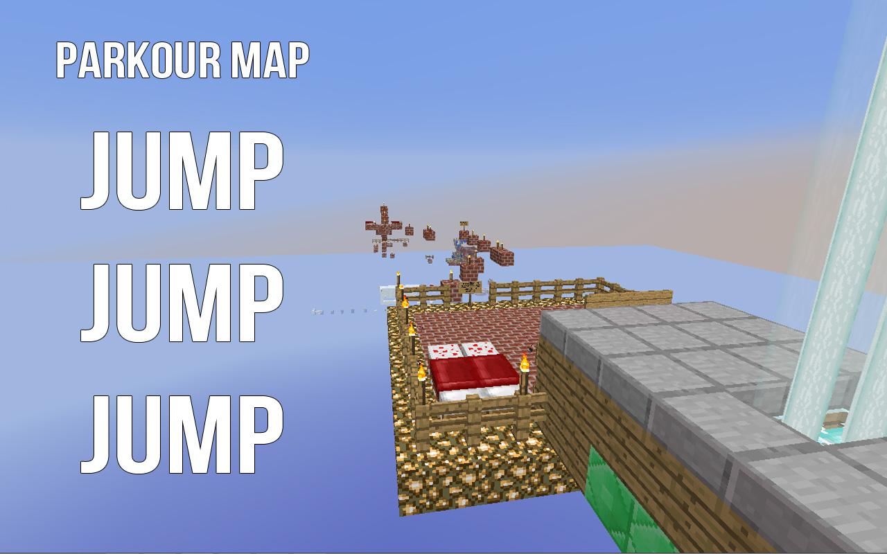 Parkour map jump jump jump 2 parkour map 2 diamonds