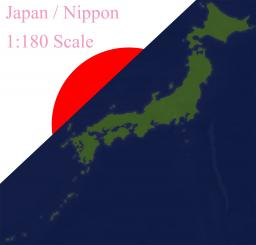 Japan 1:180 Scaled Minecraft Map & Project