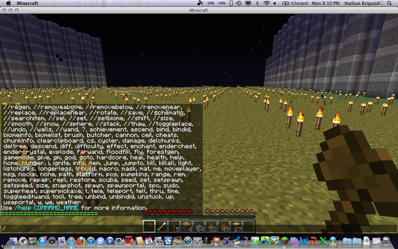 minecraft commands list Minecraft pe commands (slash commands), correct syntax and examples commands are for the official (vanilla) version of minecraft pocket edition (no mods).