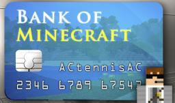 Minecraft Bank with working PIN CARD 1.5
