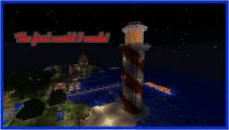 My first world - Castle (+portcullis), lighthouse, golf, rollercoaster, ship and much more! Minecraft Project