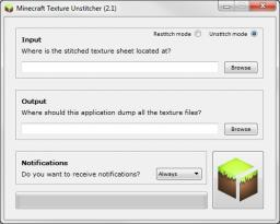 [App] Texture Unstitcher for Texture Pack Creators Minecraft