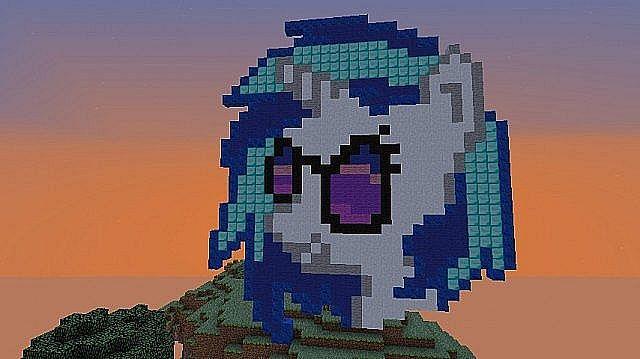 Vinyl Scratch Pixel Art Minecraft Project