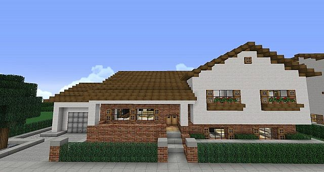 Split Level House Furnished Minecraft Project