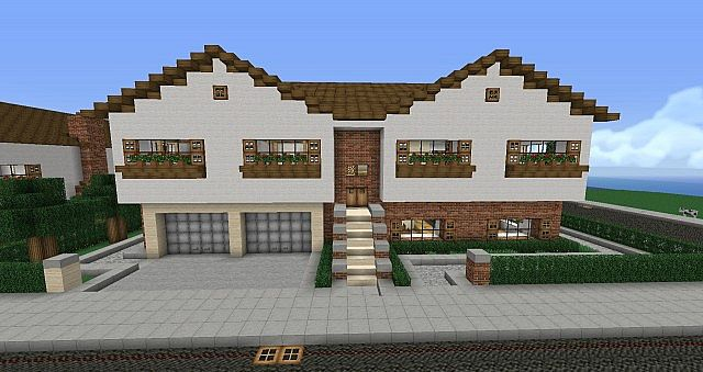 Bi level house furnished minecraft project for Bi level home