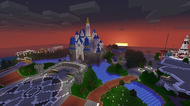 MC PJ Party Minecraft Server Disneyland Minecraft Map on