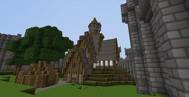 One of the buildings in my castle I built during my survival.