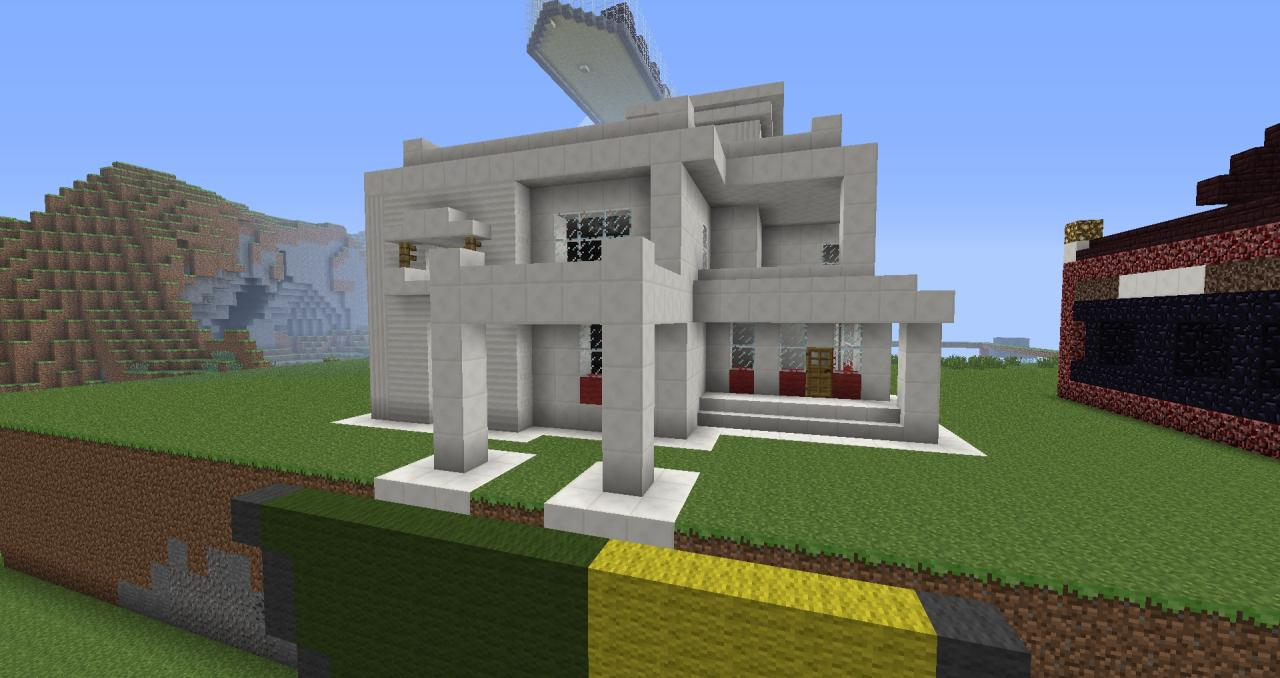 Modern quartz house minecraft blog for Modern home blog