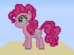 Pinkie Pie 8-bit (custom texture pack) Minecraft Map & Project