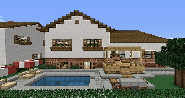 Split Level House Furnished Minecraft Project