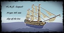 HMS Leopard (50 TNT cannons!) Minecraft Map & Project