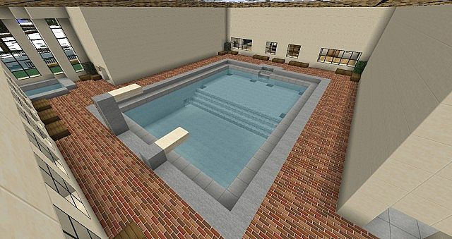 Indoor swimming pool minecraft project for How to make a small pool