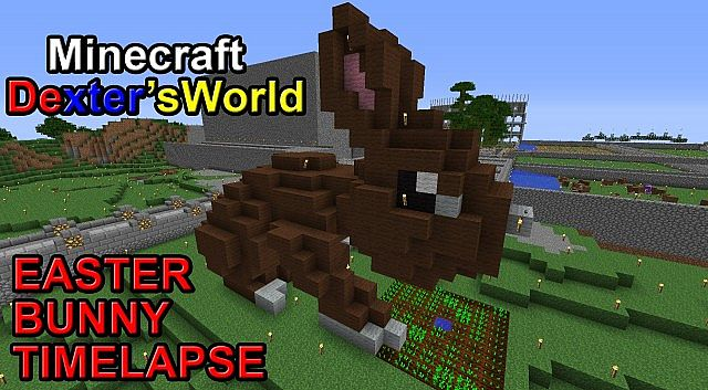 Easter Bunny Timelapse Minecraft Project