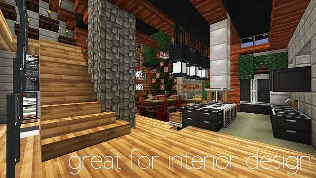 Pamplemousse hd simulation minecraft texture pack for Modern house interior design minecraft