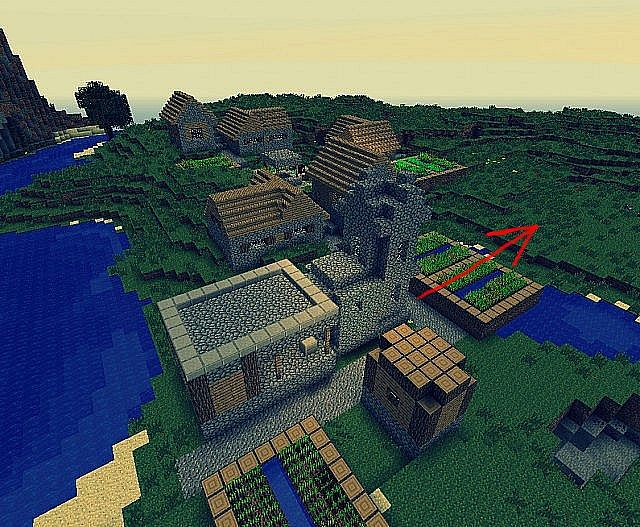 Village in front of you seed 1 5 1 minecraft project