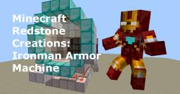 Ironman Armor Machine Minecraft Map & Project