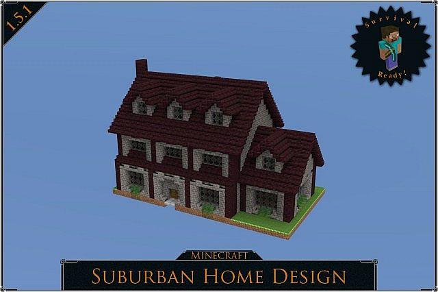 Suburban Home Minecraft Project