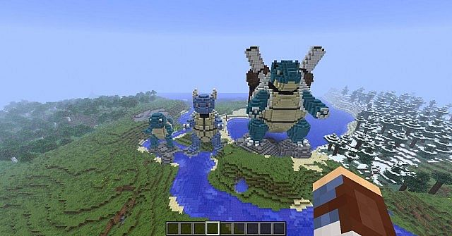 how to build a 3d squirtle in minecraft