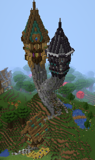 DUAL WIZARD TOWER! I love this build so much D