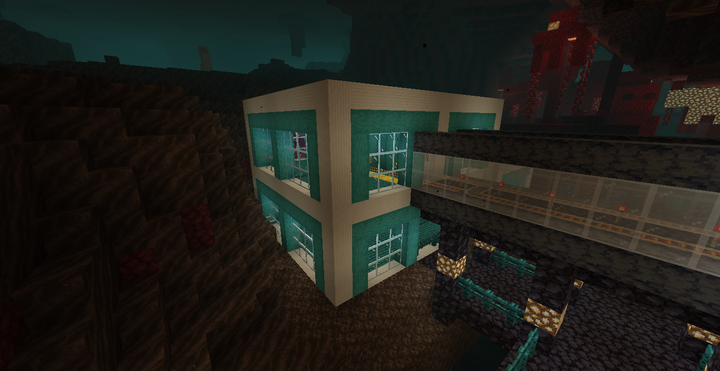 Nether Central station, located in the Nether